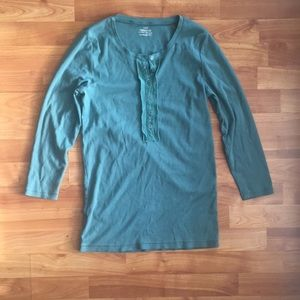 J.Crew Perfect Fit Dusty Teal 3/4 Sleeve Top